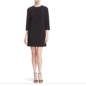 Kate Spade Placket Ruffle black dress